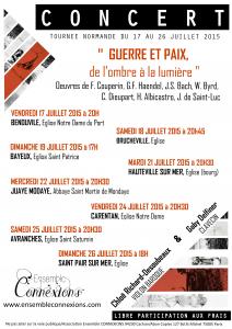 """Programme 2015 - """"Guerre et Paix, de l'ombre à la lumière"""""""